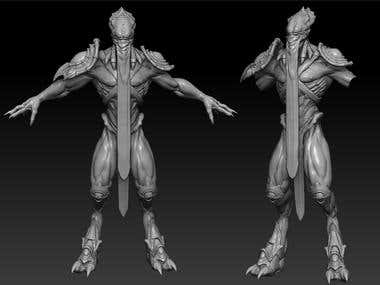 Starcraft 2 Sculpting | Zbrush