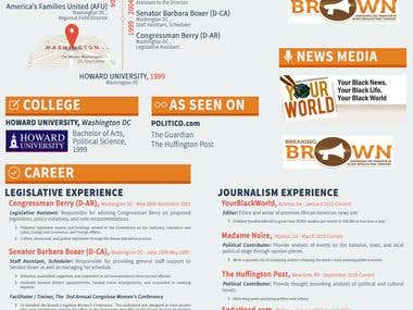 Resume Infographic designe