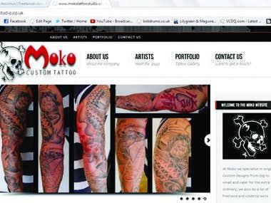 Moko Tattoo Studio Website (Html)