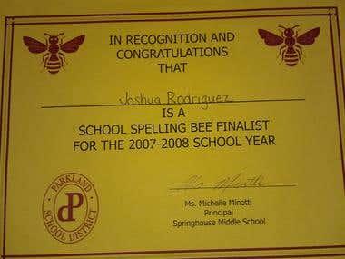 Spelling Bee Finalist