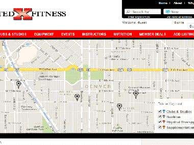 Wordpress website with changes in Google map API