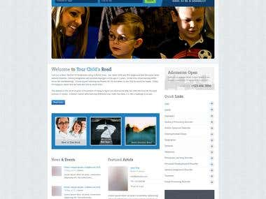Wordpress website with custom design and classified plugin