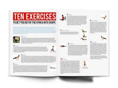 Magazine Inner page Design