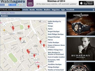 Watch Agora - Retailers map