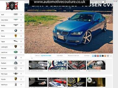Cars Show Room Website