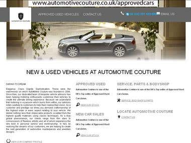 Apporved Used Cars website (CMS based)