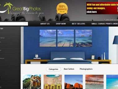 Great Big Photos ( Word-press E commerce Website)