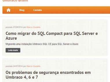 Blog Umbraco Brasil