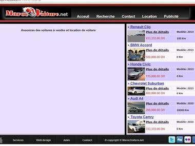 I create a car dealer web site