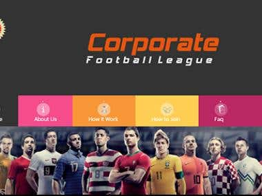 Project Football Club with responesive web layout