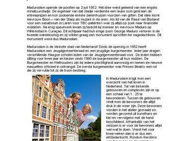 Dutch article writing