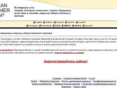 EN-RU website translation