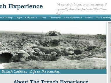 Museum Website Trench Experience