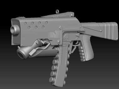 One More Sci-fi Gun by CGart