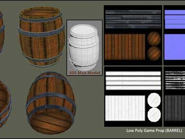 Game Drum Model Low Poly