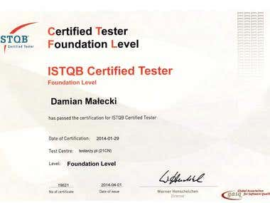 ISTQB Foundation Level Certificate