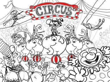 Circus Children's Illustration - Sketch