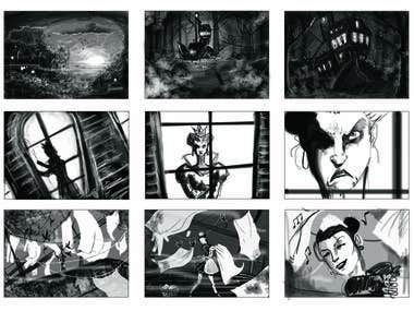 Storyboard for fantasy short film (sample)