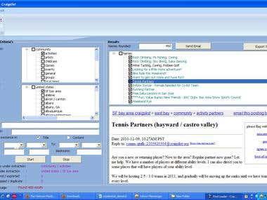 Craiglist Extraction Software