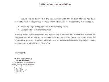 A Letter of Recommendation
