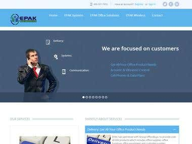EPak - wordpress website