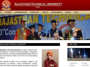 Rajasthan Technical University website