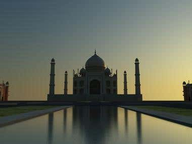 THE TAJ MAHAL AAGRA (INDIA)