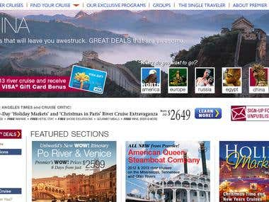 Premier River Cruises Website