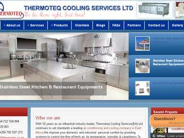 Website project for Thermoteq Cooling Services