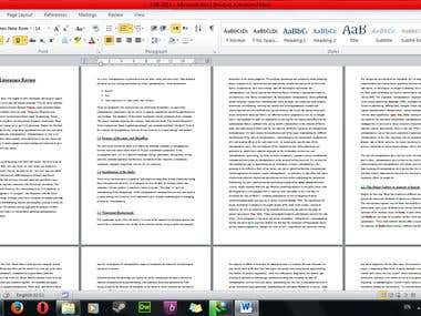 Literature Review of 5000 words