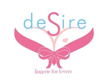 Desire Lingerie Logo Design Concept