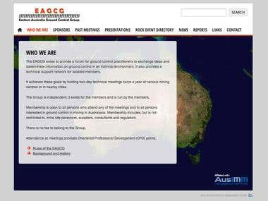 Eastern Australia Ground Control Group website