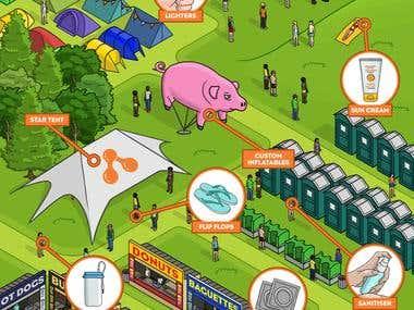 Isometric Festival Map