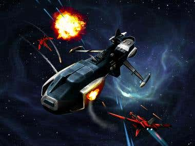 Space Battle concept art
