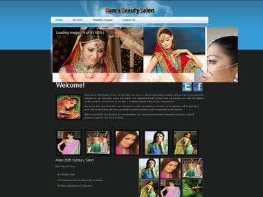 Website for a Beauty Salon
