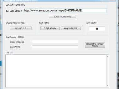 Amazon price mointoring tool