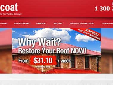 Project for Roof Company -  Responsive web layout