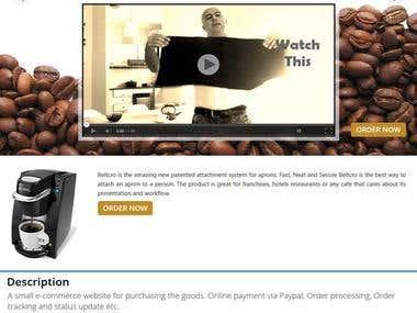 A small e-commerce website