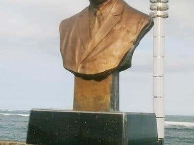 Vicente L. Pimentel, Sr. statue