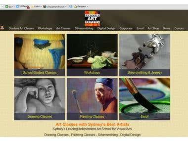 Website Front Page - Sydney Art School