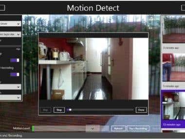 Windows Azure Motion Detect