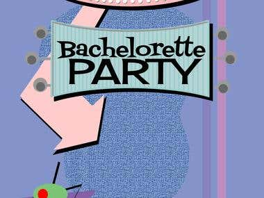 Retro Bachelorette card design