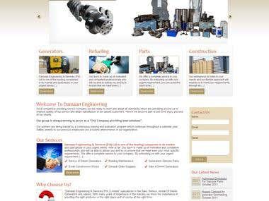 Service providing company website