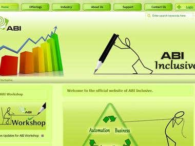 Web Designing Project : ABI Inclusive Pvt. Ltd.