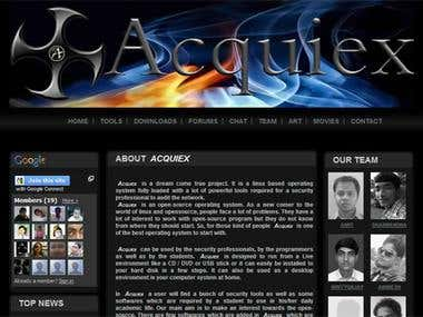 Wesite Design Project : Acquiex | An open source Operating S