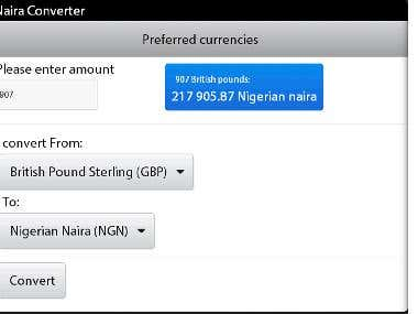 Naira currency converter