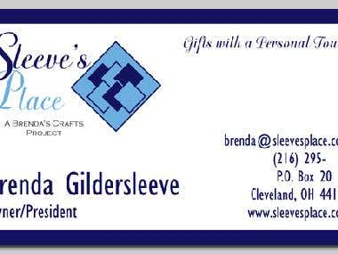 Sleeve's Place Business Card