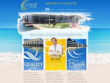Crest Accommodation - Wordpress