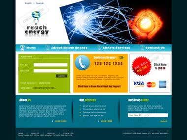 Template & Website design