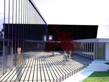 design, sketchup modelling, vray rendering